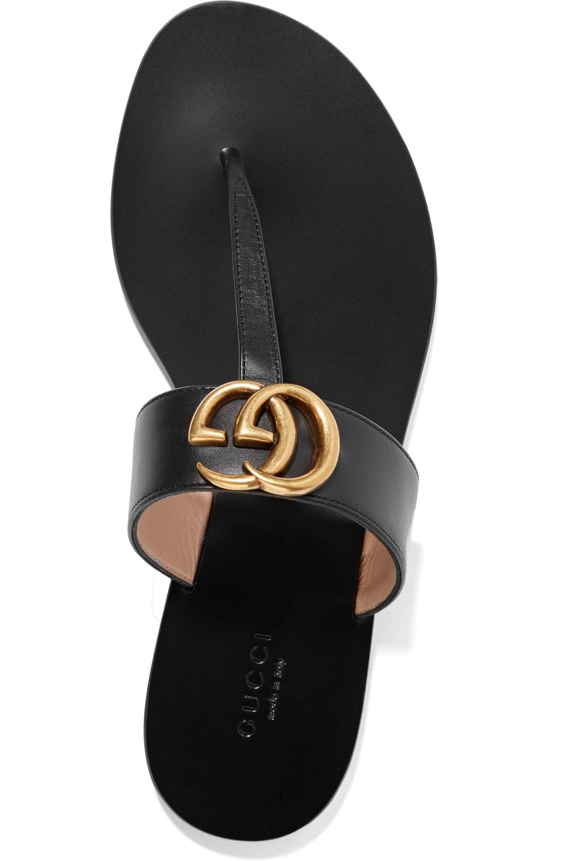 Black Marmont logo-embellished leather