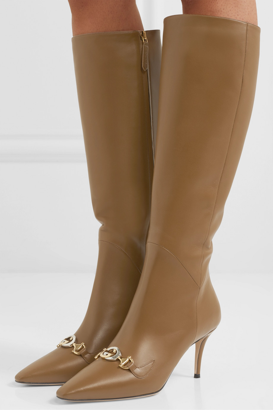 Gucci Zumi leather knee boots