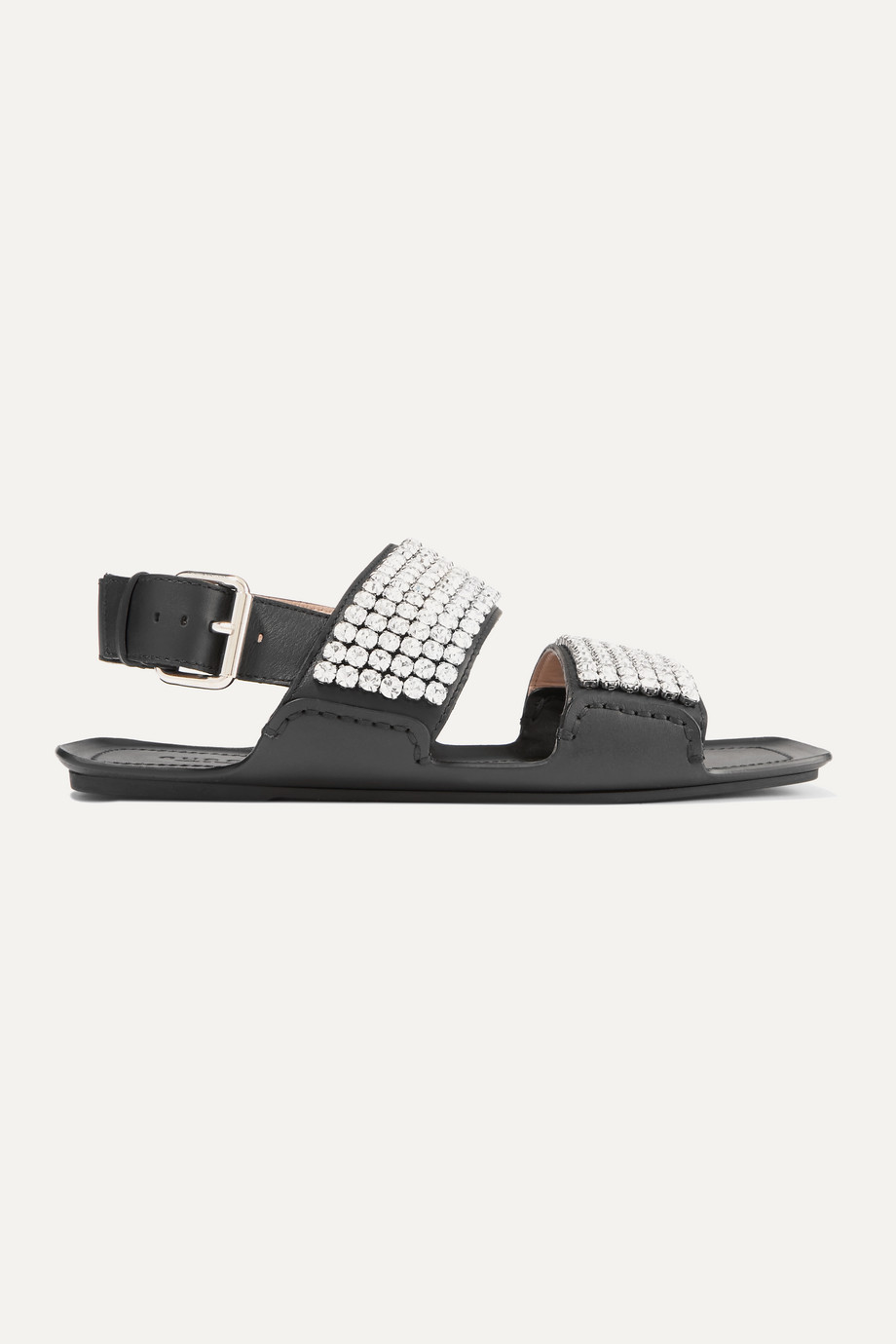 Gucci Sonique crystal-embellished leather sandals