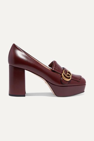marmont-fringed-logo-embellished-leather-platform-pumps by gucci