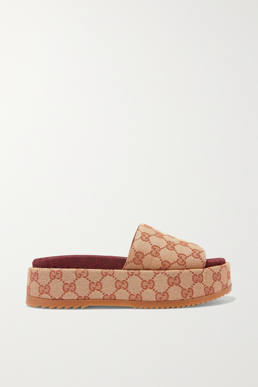 Gucci Angelina logo-detailed coated-canvas platform sandals