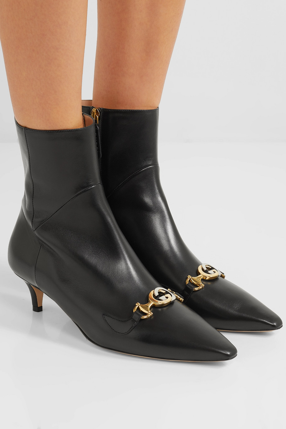 Gucci Zumi leather ankle boots
