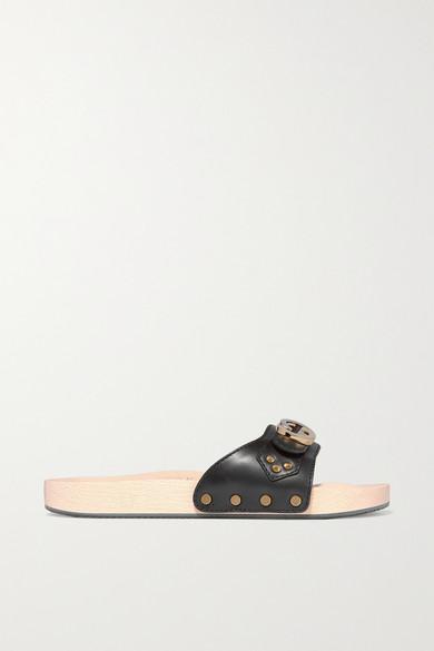 1e7f78bf8 Gucci | Shiner embellished leather slides | NET-A-PORTER.COM