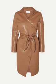 Ailsa vegan leather wrap dress