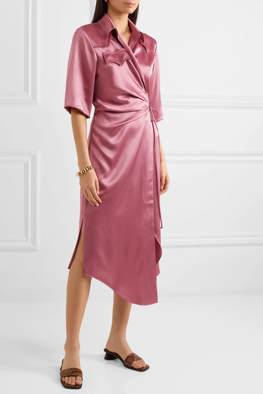Nanushka Lais satin wrap dress