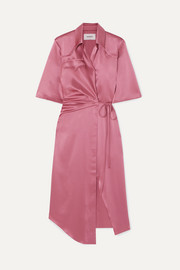 Lais satin wrap dress