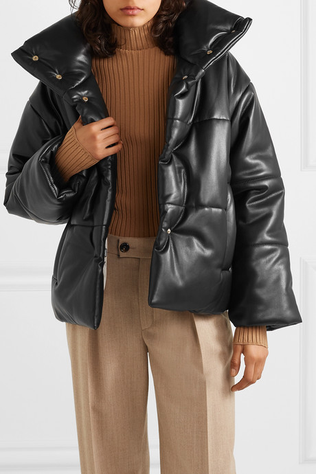 Hide quilted vegan leather jacket