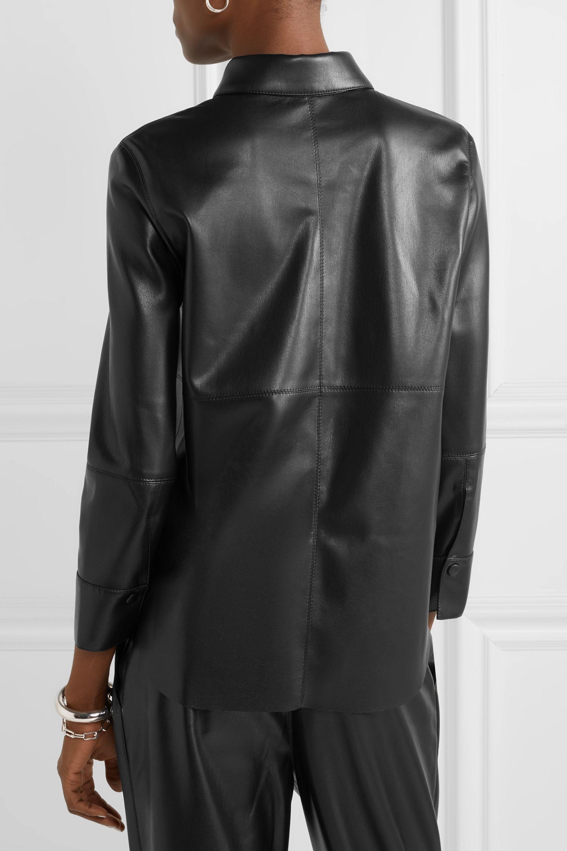 Nanushka Naum vegan leather shirt