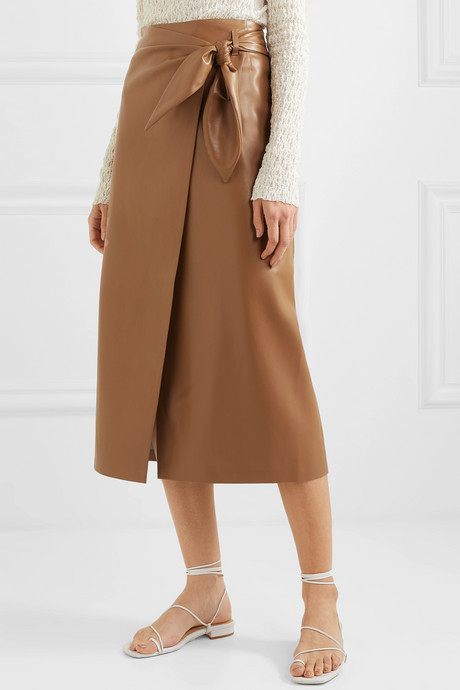 Amas vegan leather wrap skirt