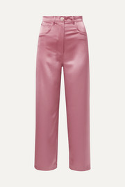 Marfa satin straight-leg pants