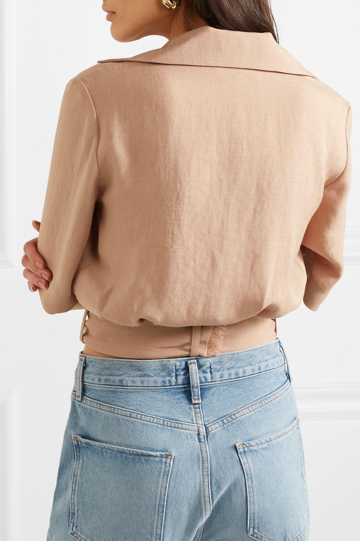 Nanushka Cayne belted woven shirt