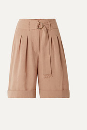 Colorado belted woven shorts