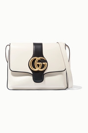 Arli small two-tone leather shoulder bag