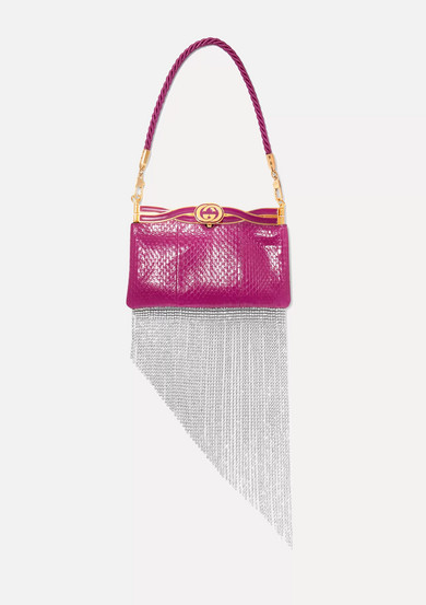 Broadway Crystal Embellished Elaphe Tote by Gucci