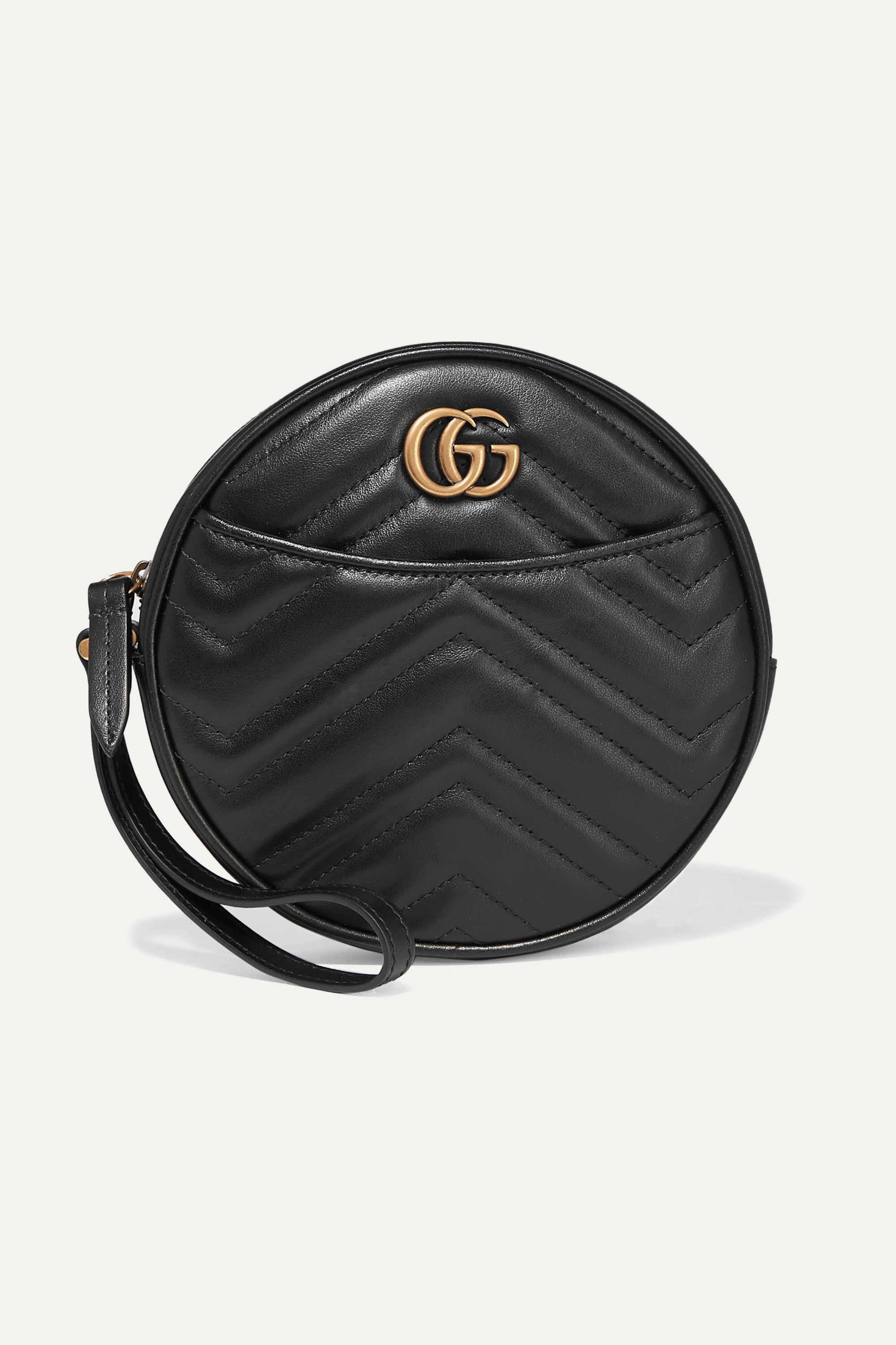 Gucci GG Marmont Circle large quilted leather clutch