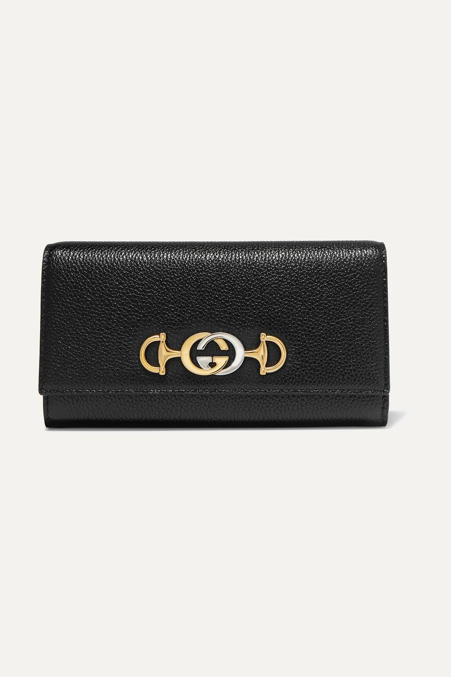 Gucci Zumi embellished textured-leather continental wallet