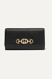 Zumi embellished textured-leather continental wallet