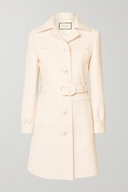 Gucci Belted wool-crepe coat