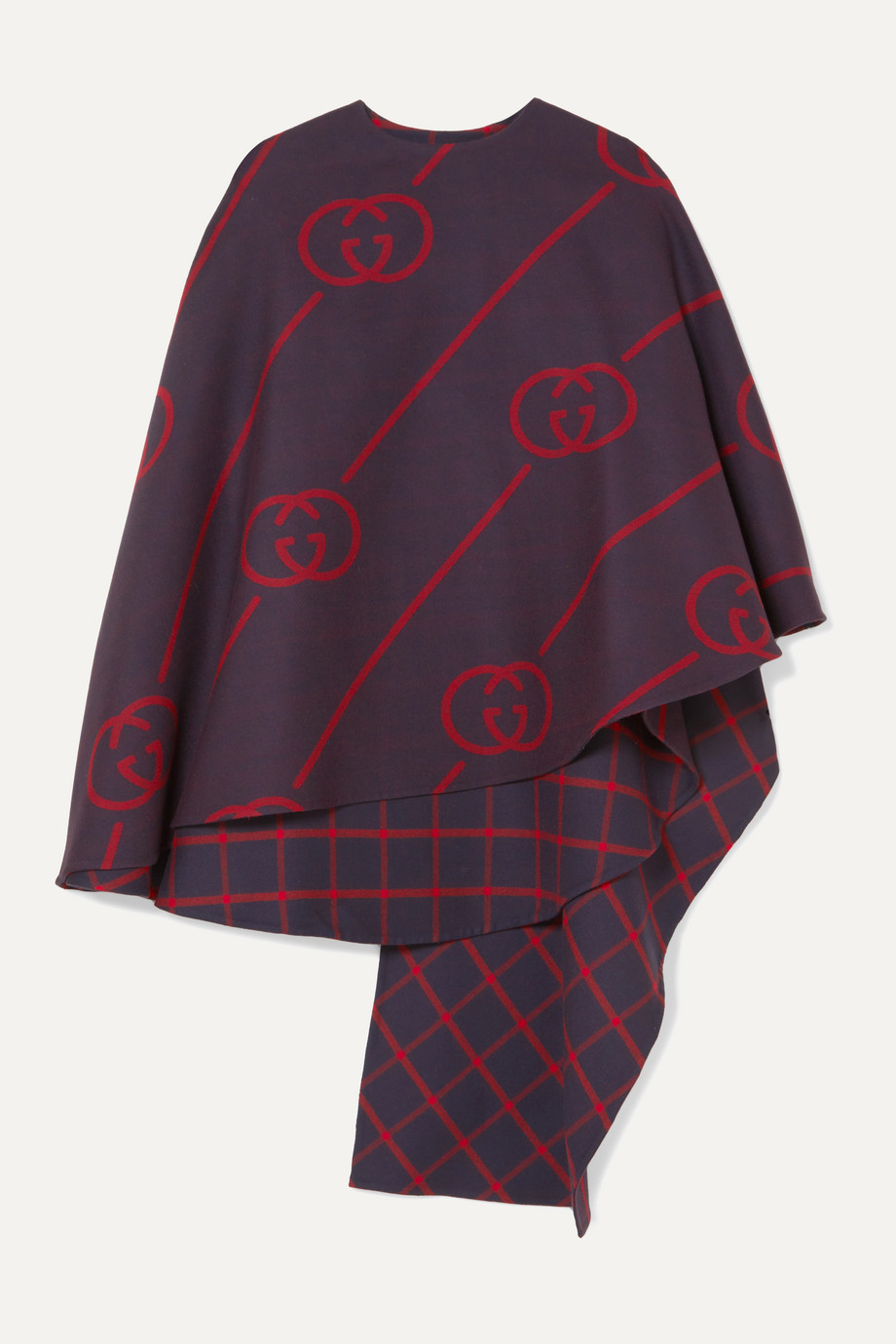 Gucci Reversible wool and silk-blend cape