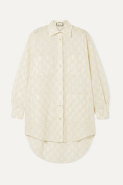 Gucci GG oversized broderie anglaise cotton-blend shirt