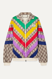 Gucci Oversized appliquéd printed tech-jersey track jacket