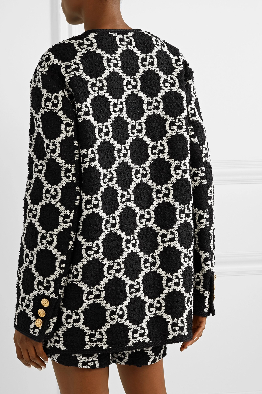 Gucci Oversized-Jacke aus Bouclé-Tweed aus einer Baumwollmischung