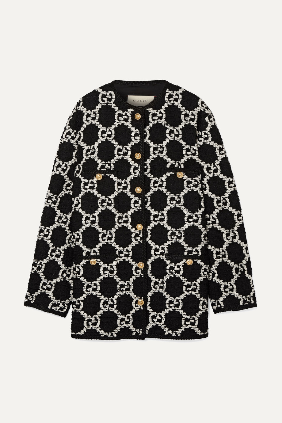 Gucci Oversized cotton-blend bouclé-tweed jacket