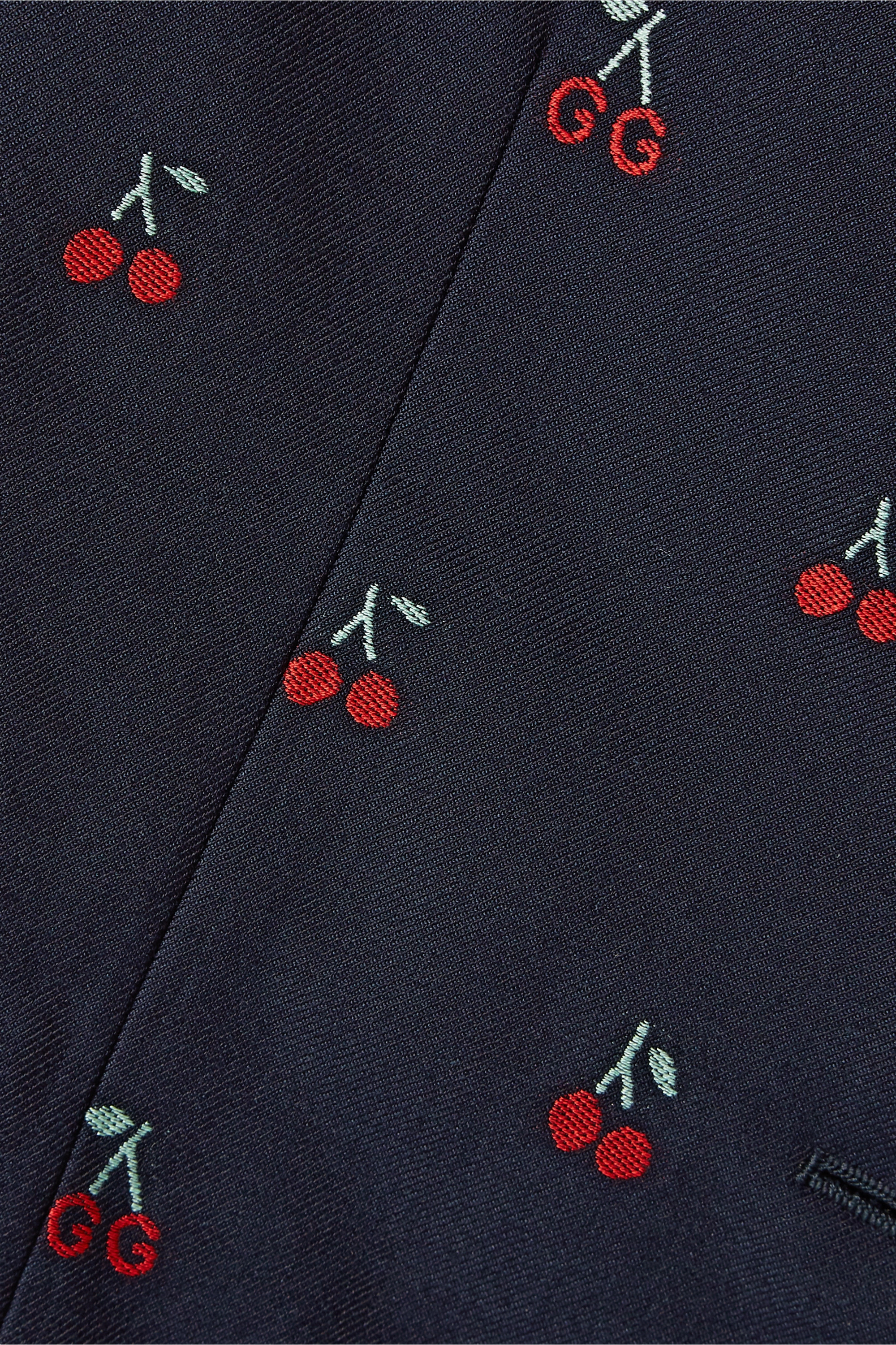 Gucci Embroidered cotton and wool-blend blazer