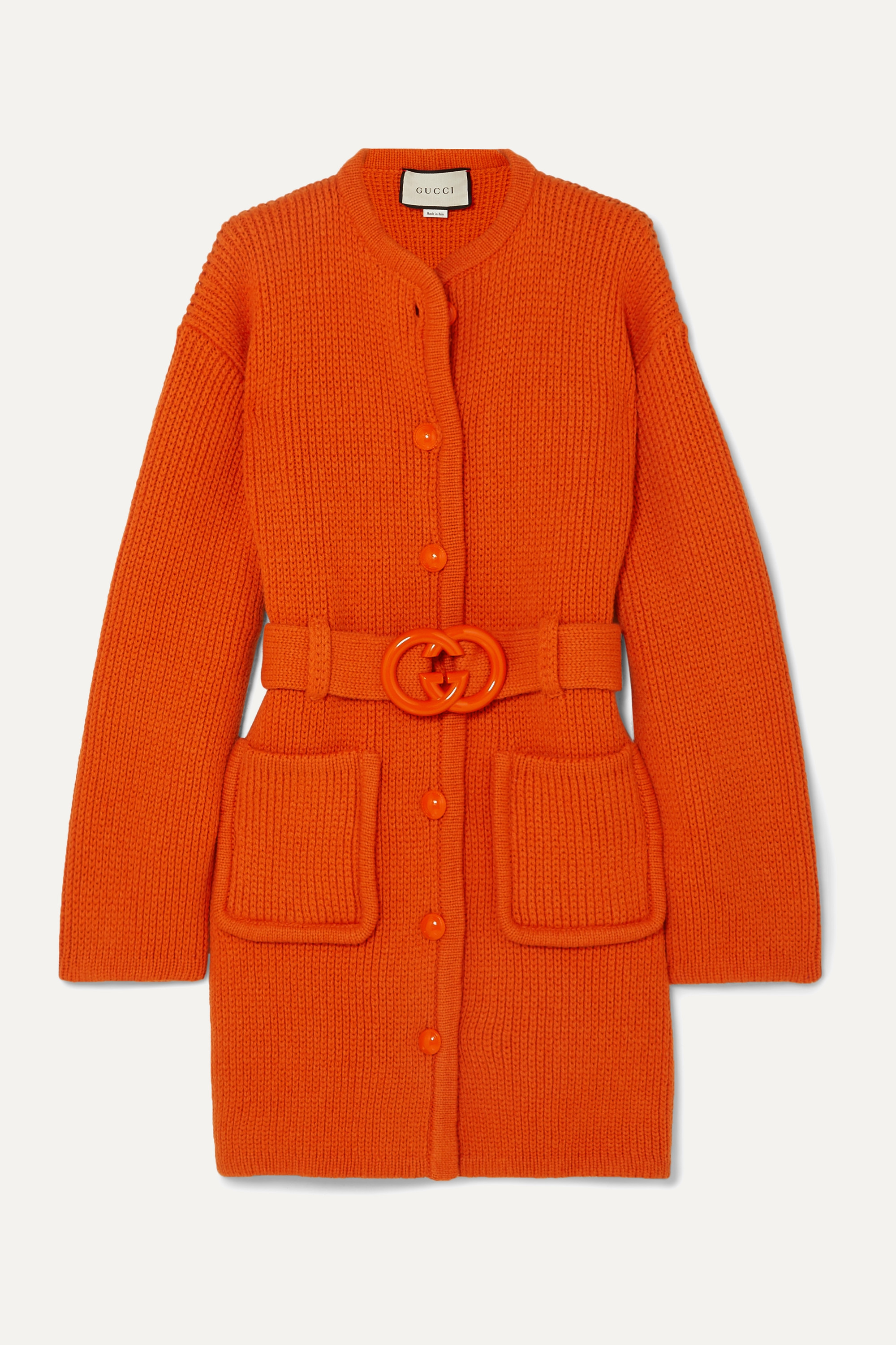 Gucci Belted wool cardigan