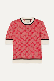 Gucci Intarsia wool and cotton-blend sweater