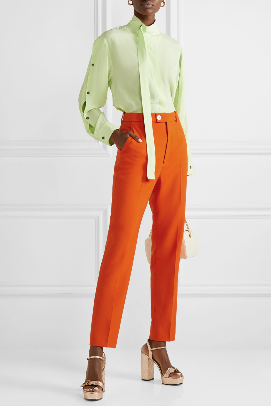 Gucci Wool-blend tapered pants
