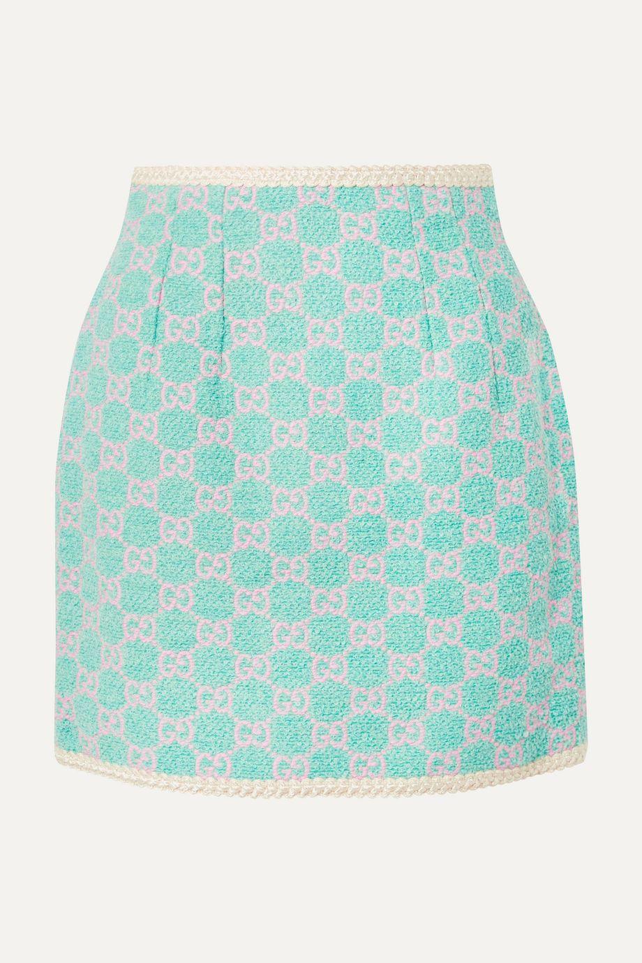 Gucci Cotton-blend jacquard mini skirt
