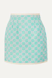 Gucci Cotton-blend jacquard mini skirt