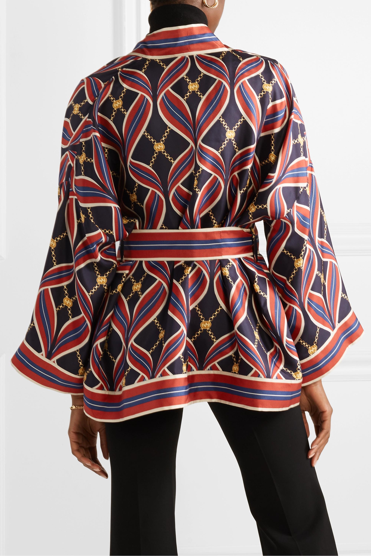 Gucci Printed silk-twill kimono