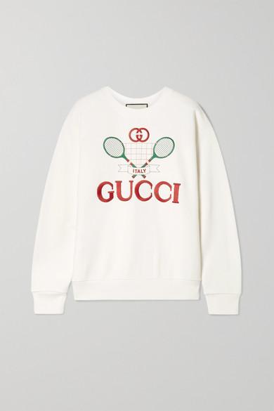 大廓形刺绣纯棉平纹针织卫衣 by Gucci
