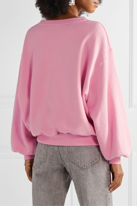 Gucci Oversized embroidered cotton-jersey sweatshirt