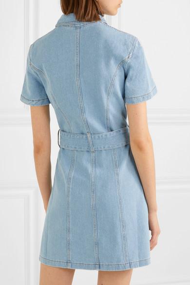 Nanushka Dresses Mora belted denim mini dress
