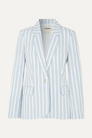 L'Agence Scout striped linen and cotton-blend blazer