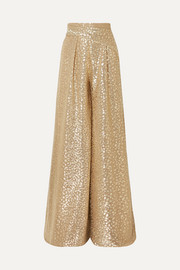 Sister metallic voile wide-leg pants
