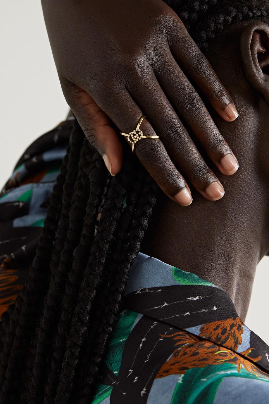 Gucci GG Running 18-karat gold diamond ring