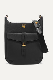 TOM FORD T Twist textured-leather shoulder bag