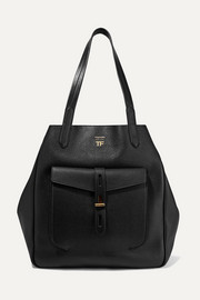 TOM FORD T medium textured-leather tote