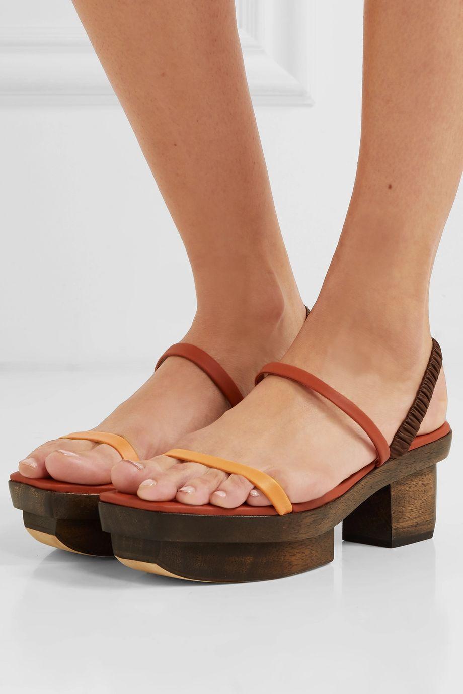 Cult Gaia Fifi leather platform sandals