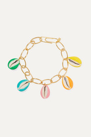 Merco gold-plated, shell and enamel bracelet