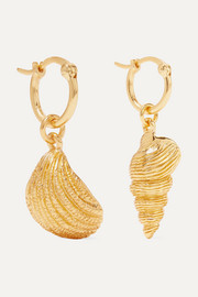 Panama gold-plated earrings