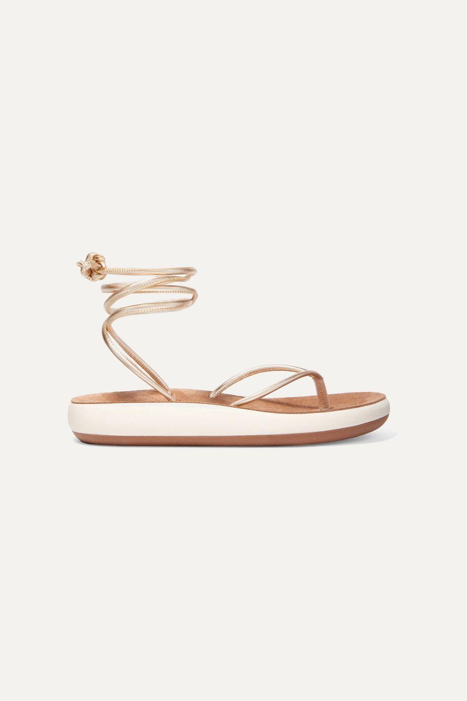Ancient Greek Sandals Piera metallic leather sandals