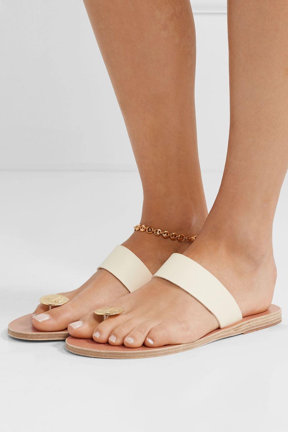 Ancient Greek Sandals Thalia embellished leather sandals