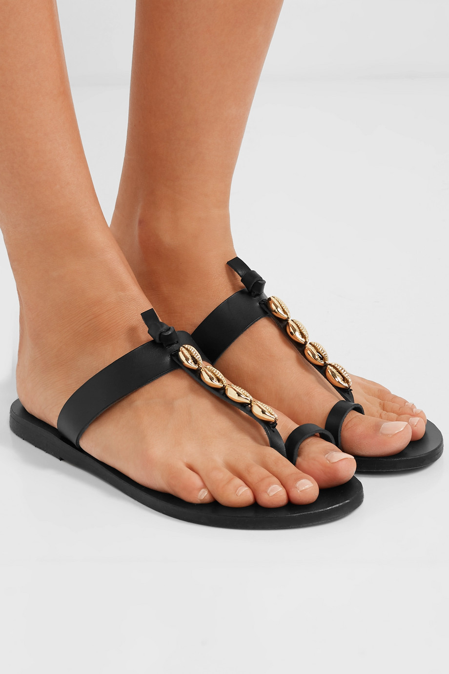Ancient Greek Sandals Iris embellished leather sandals