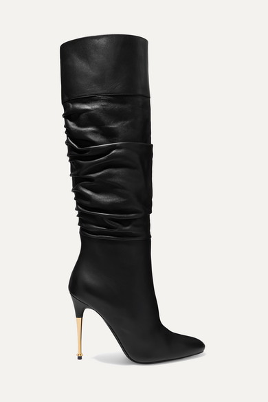 Tom Ford Leather Over-the-knee Boots In Black