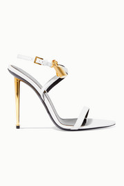 TOM FORD Padlock embellished leather sandals